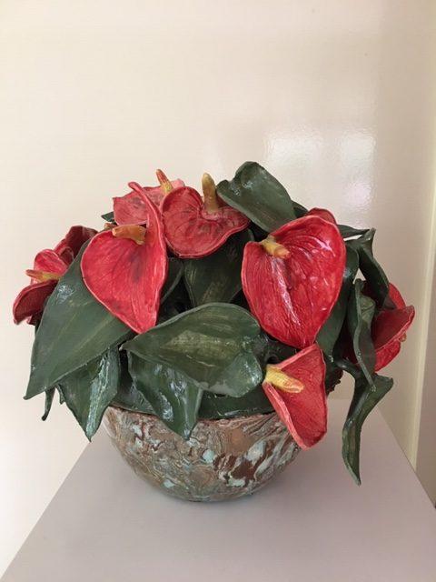 Bloemen in schaal